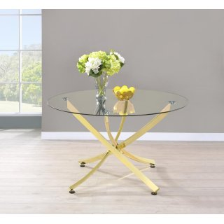 Twist Dining Table Gold