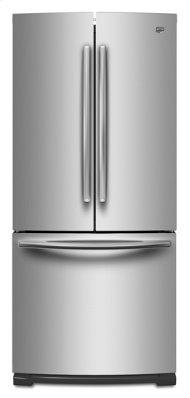 Monochromatic Stainless Steel Maytag® 19.6 cu ft French Door Refrigerator with Strongbox™ Door Bins
