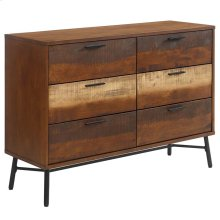 Arwen Rustic Wood Dresser in Walnut