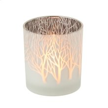 Frosted Tree Tealight Holder.