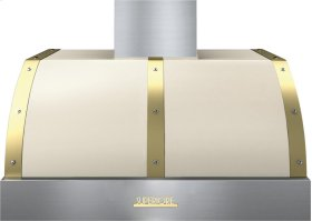 Hood DECO 36'' Cream matte, Gold 1 power blower, electronic buttons control, baffle filters