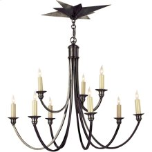 Visual Comfort SC5002BZ Eric Cohler Venetian 9 Light 26 inch Bronze Chandelier Ceiling Light