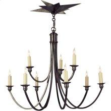 Visual Comfort SC5002BZ Eric Cohler Venetian 9 Light 26 inch Bronze Chandelier Ceiling Light
