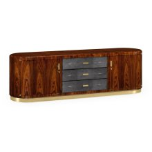 Art Deco High Lustre Rosewood TV Entertaiment