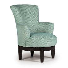 JUSTINE Swivel Barrel Chair