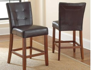 "Montibello CounterParsons Chair Dark Brown, 19"" x 25"" x 40"""