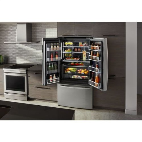"72"" Counter-Depth French Door Refrigerator with Obsidian Interior"