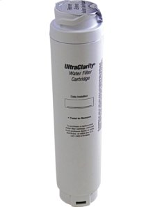 Activated charcoal filter for water filter system including saturation indicator