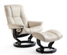Stressless Chelsea Small Recliner and Ottoman Product Image