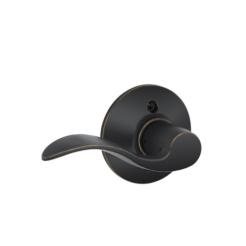 Accent Lever Non-turning Lock - Aged Bronze