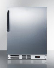 ADA Compliant Freestanding Medical All-freezer Capable of -25 C Operation, With Wrapped Stainless Steel Door and Towel Bar Handle