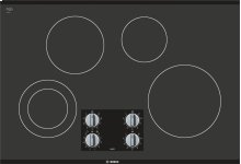"500 Series 30"" Electric Cooktop 500 Series - Black Frameless NEM5066UC"