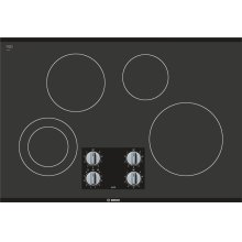 "500 Series 30"" Knob Control Electric Cooktop, NEM5066UC, Black Frameless"