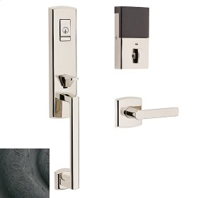 Distressed Oil-Rubbed Bronze Evolved Soho 3/4 Escutcheon Handleset