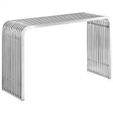 Pipe Stainless Steel Console Table in Silver Product Image
