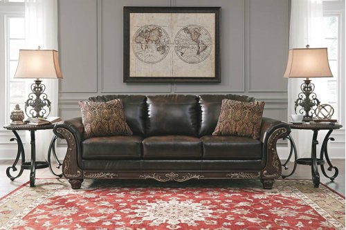 67402  Sofa & Loveseat - Vanceton Antique