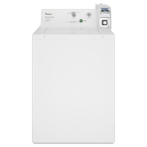 RED HOT BUY-BE HAPPY! Whirlpool® Commercial Top-Load Washer, Coin Equipped - White