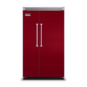 "Apple Red 48"" Side-by-Side Refrigerator/Freezer - VISB (Integrated Installation)"