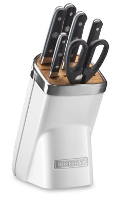7-Piece Professional Series Cutlery Set - Frosted Pearl White