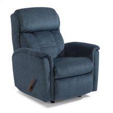 Luna Fabric Swivel Gliding Recliner