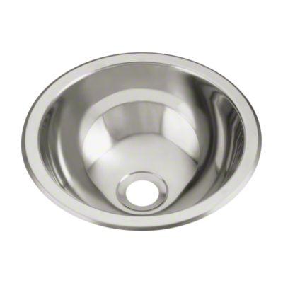 Round Single Basin Self-Rimming/Undermount Entertainment Sink/Lavatory