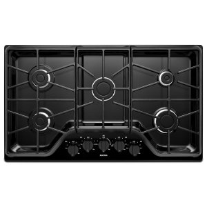 36-inch 5-burner Gas Cooktop with Power Burner - BLACK