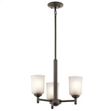 Shailene Collection Shailene 3 Light Mini Chandelier - Olde Bronze OZ
