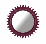 Epicenters Williamsburg Round Mirror - Red Product Image