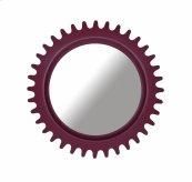 Epicenters Williamsburg Round Mirror - Red
