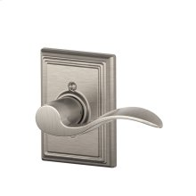 Accent Lever with Addison Trim Non-Turning Lock - Satin Nickel