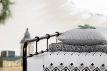 3 item kit - Printed Comforter with pillow shams, Cable-Knit Throw Blanket and Quilted Throw Pillow - Soft Gray