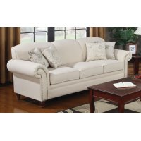 Norah Traditional Oatmeal Sofa Product Image