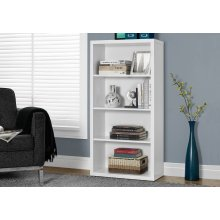 "BOOKCASE - 48""H / WHITE WITH ADJUSTABLE SHELVES"
