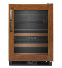 CLOSEOUT 24'' Beverage Center, Right-Hand Door Swing, Overlay Frame-Ready - Black