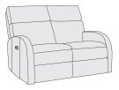 Maddux Power Motion Loveseat Product Image