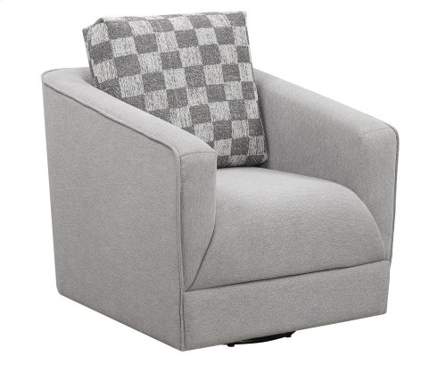 Emerald Home Adler Accent Chair Pewter U4132-04-23