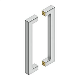 """12"""" Contemporary Pulls, Back-to-Back - Polished Stainless"""