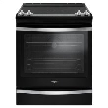 Whirlpool® 6.4 Cu. Ft. Slide-In Electric Range with True Convection - Black Ice