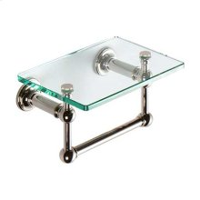 "Polished Nickel 9"" Shelf with Towel Bar"