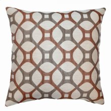 Roxbury Contemporary Decorative Feather and Down Throw Pillow In Coral Jacquard Fabric