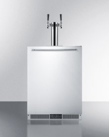 Built-in Frost-free Beer Dispenser With Dual Tap System for Two 1/6 Kegs