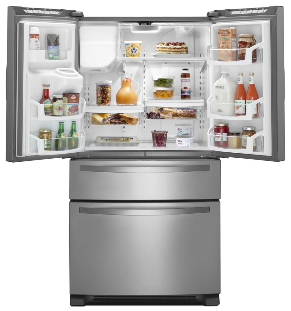 36 Inch Wide French Door Refrigerator With External Refrigerated Drawer    25 Cu. Ft
