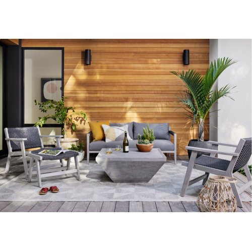 Grey Finish Delwin Square Outdoor Coffee Table