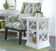 Accent Table Pure White