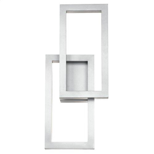 Rettangolo Collection Rettangolo 1 Light LED Outdoor Wall Lantern BKT