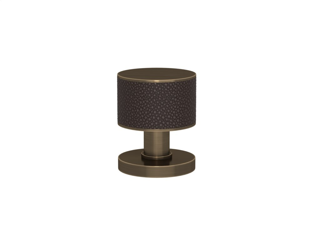 Stacked Shagreen Recess Amalfine In Cocoa And Fine Antique Brass
