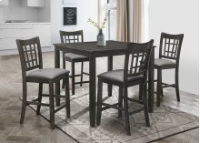 7757 Antique Black Chair