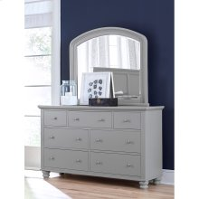 Double Dresser Mirror (Available in Cherry Brown or Eggshell White Finish)