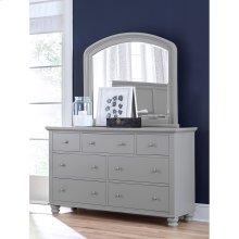 Double Dresser Mirror (In Brown Cherry Finish)
