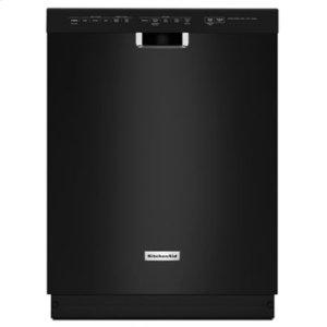 KitchenAid24'' 6-Cycle/5-Option Dishwasher, Pocket Handle - Black